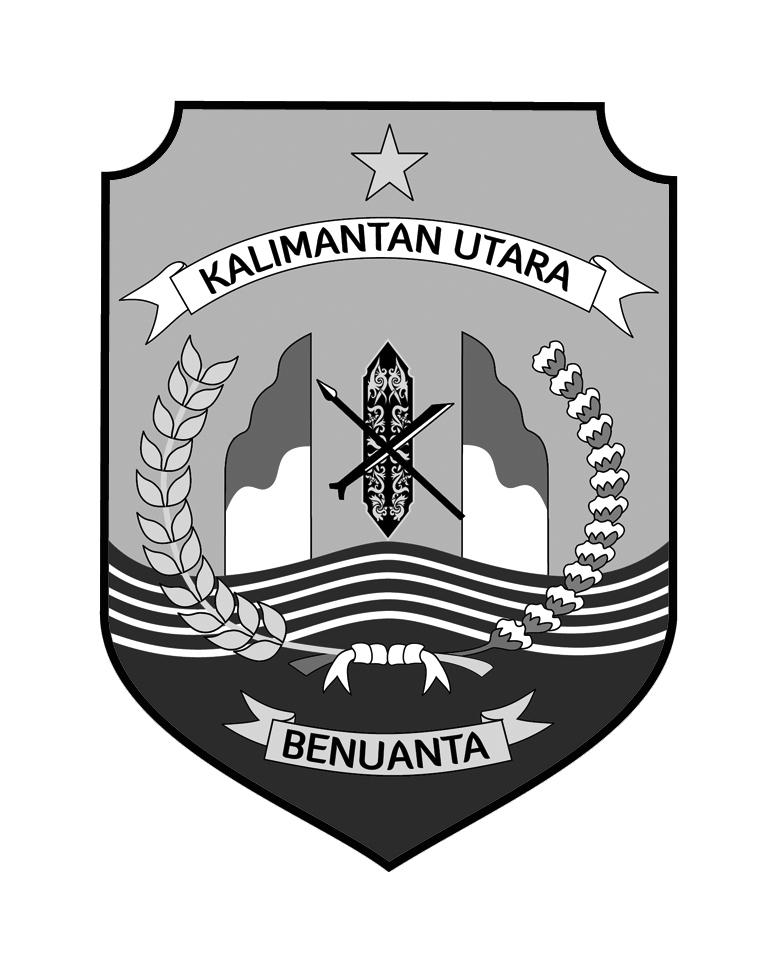 Logo Kalimantan Utara (Provinsi Kalimantan Utara) Grayscale