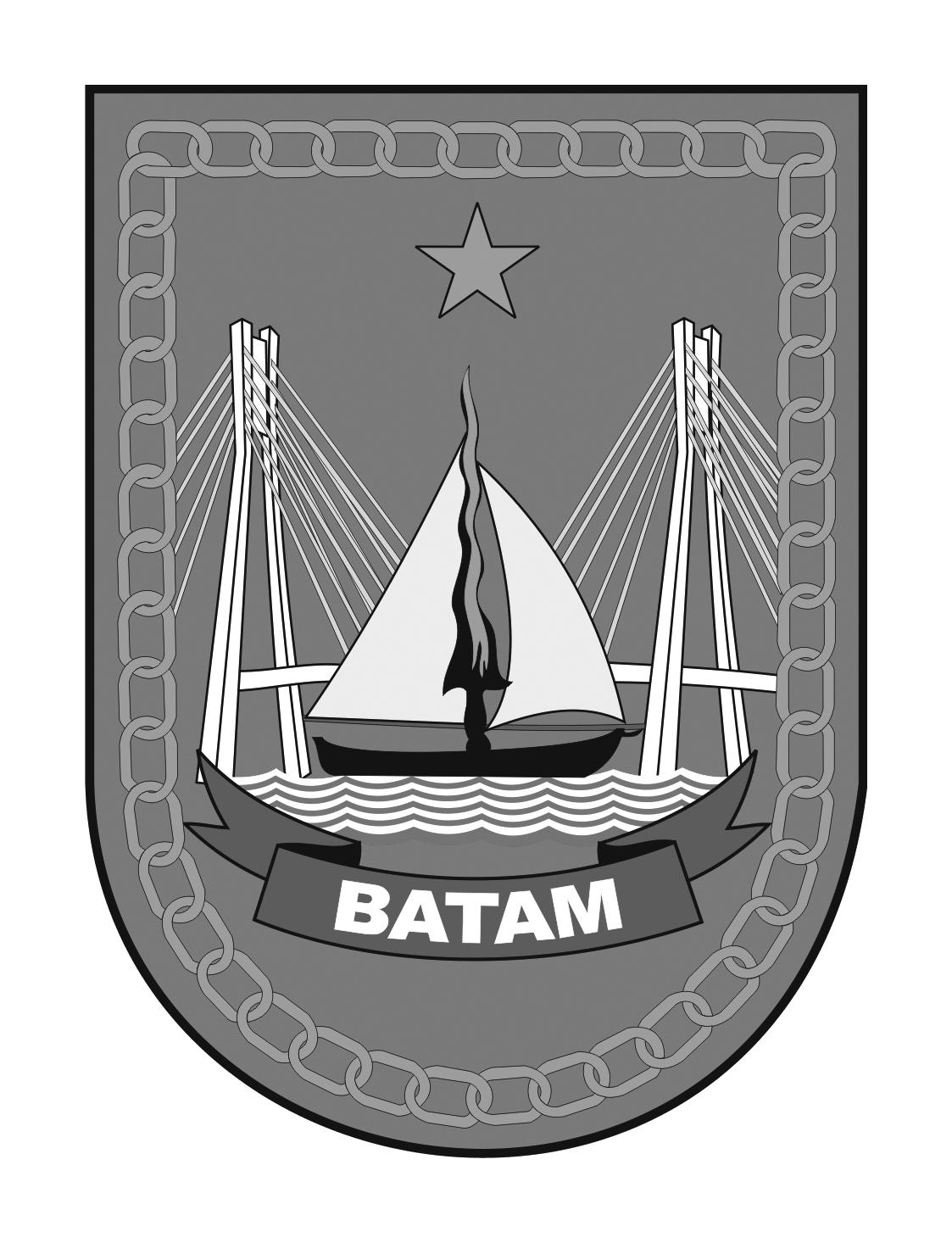 Logo Kota Batam (Provinsi Kepulauan Riau) Original Grayscale
