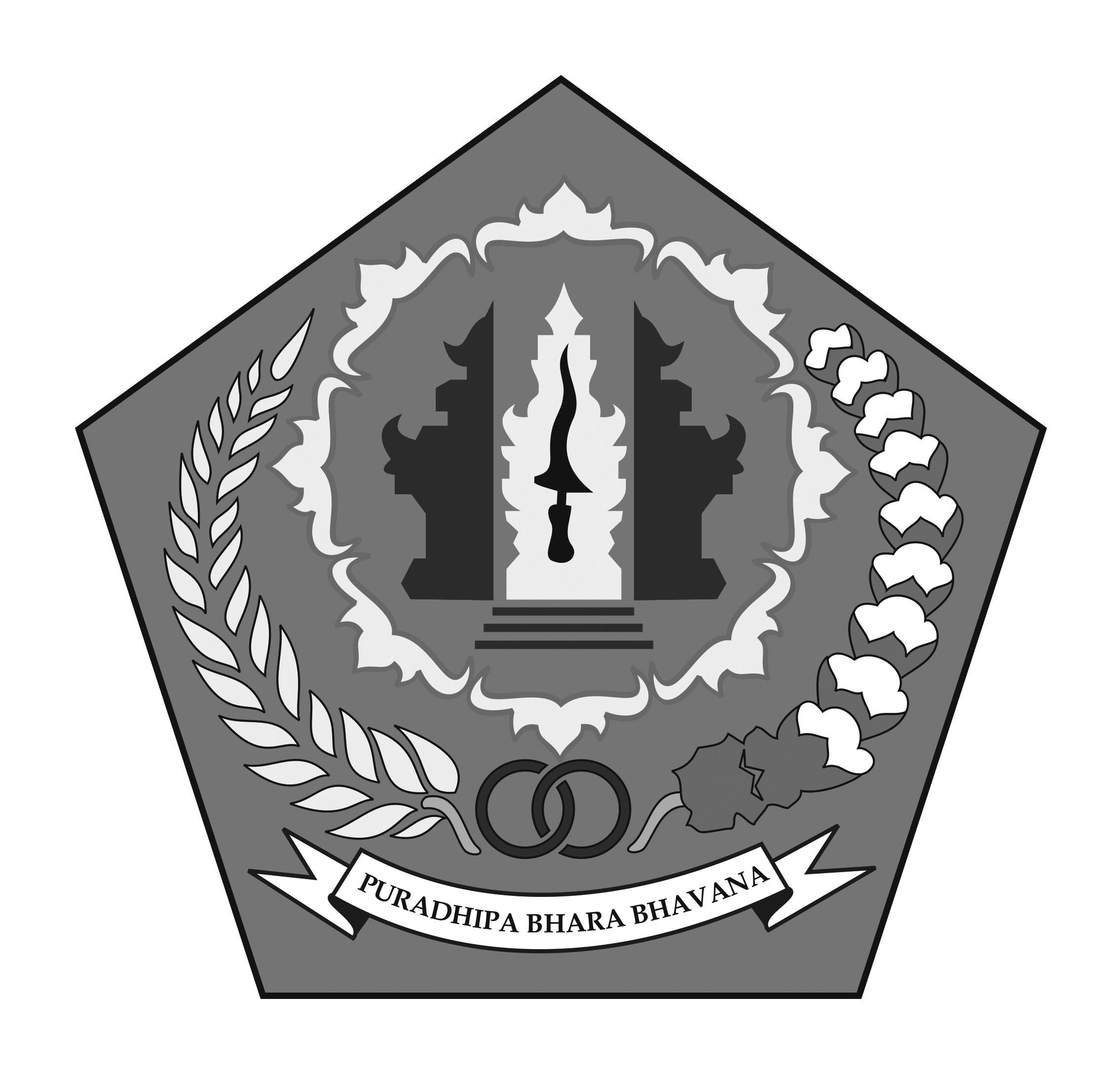 Logo Kota Denpasar (Ibu Kota Provinsi Bali) Original Grayscale