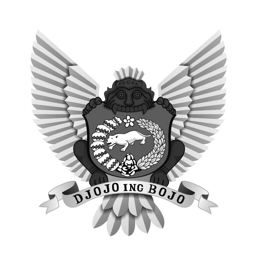 Logo Kota Kediri Grayscale