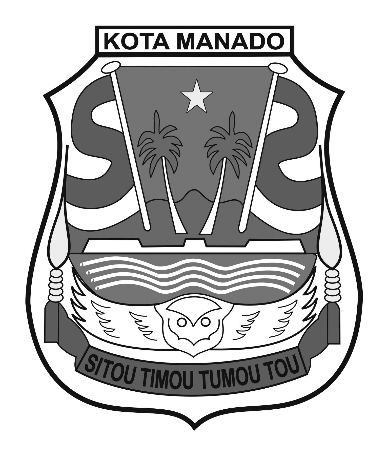 Logo Kota Manado (Provinsi Sulawesi Utara) Original Grayscale