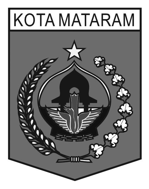 Logo Kota Mataram (Provinsi Nusa Tenggara Barat) Grayscale
