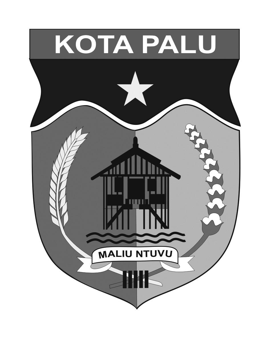 Logo Kota Palu (Provinsi Sulawesi Tengah) Original Grayscale