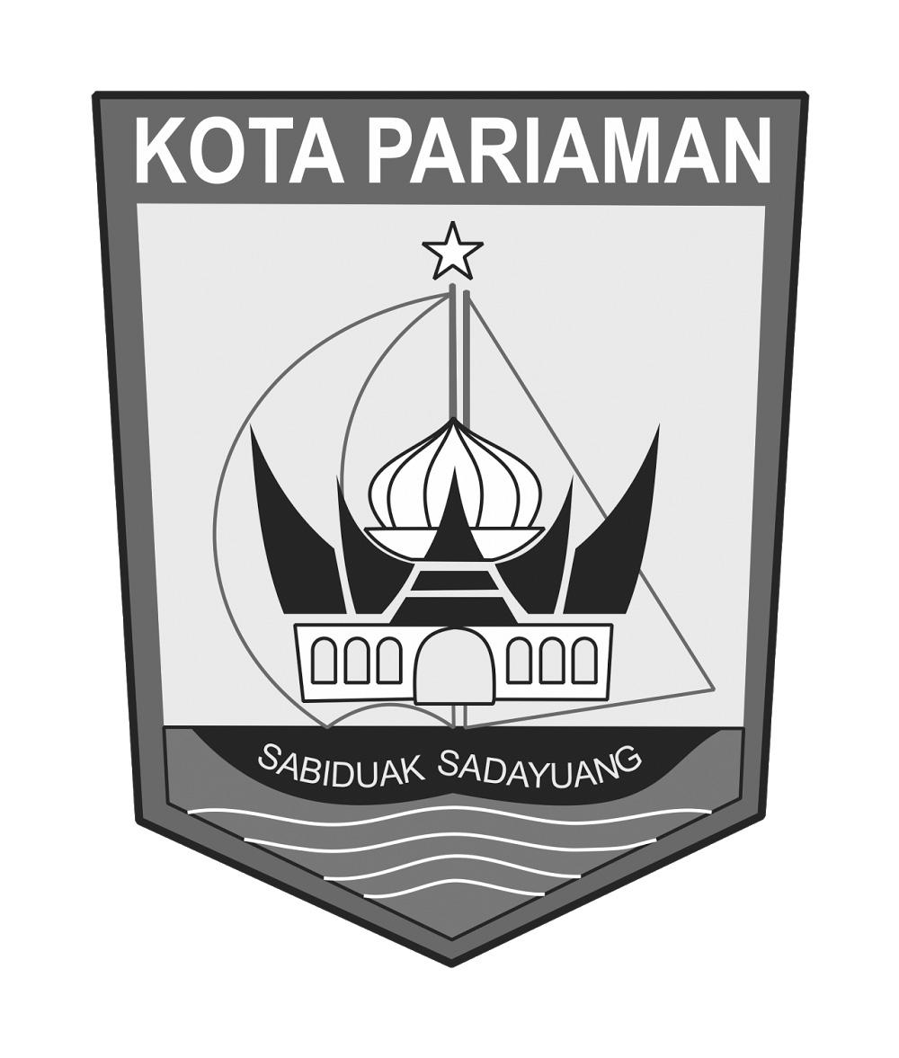 Logo Kota Pariaman (Provinsi Sumatera Barat) Original Grayscale