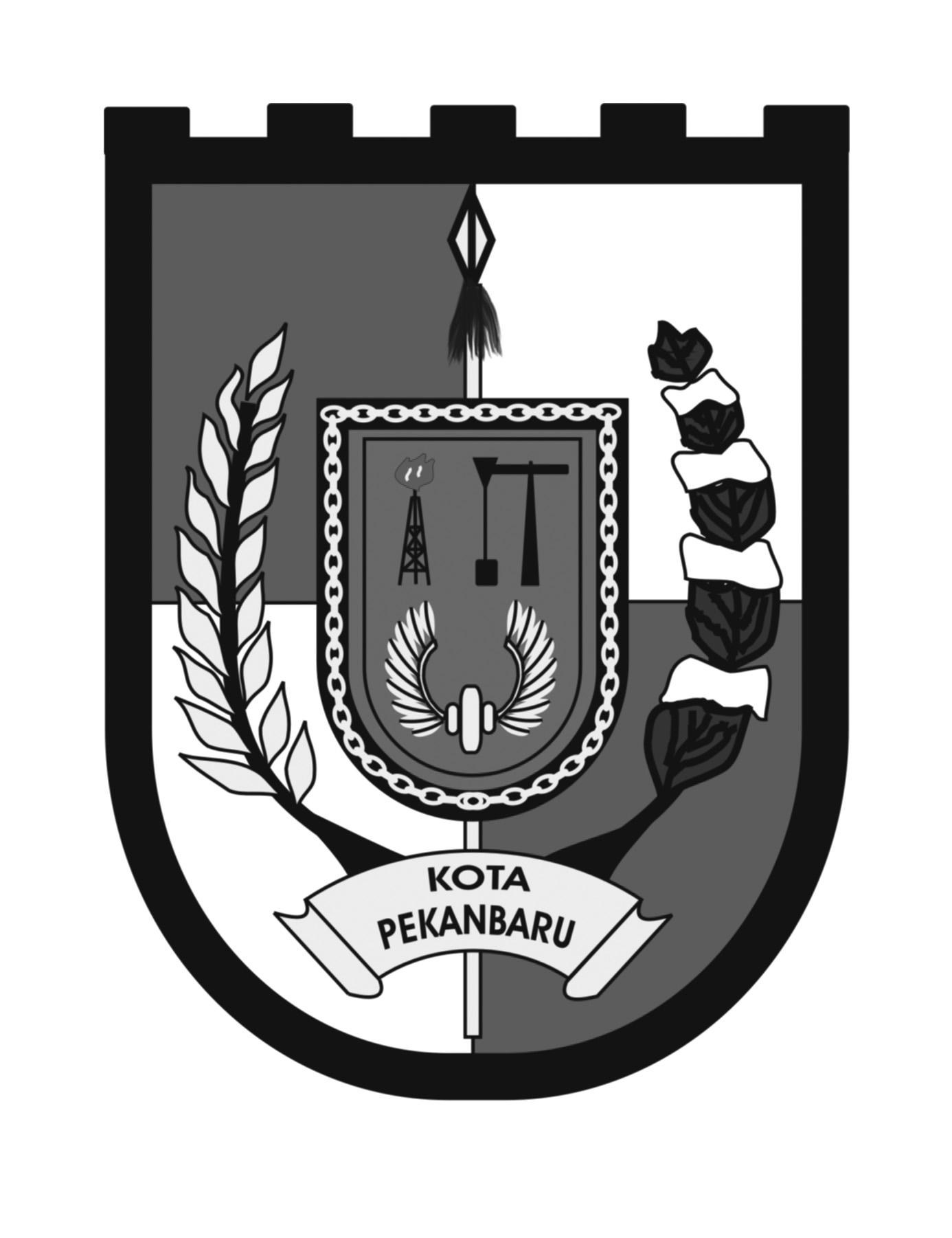 Logo Kota Pekanbaru (Provinsi Riau, Indonesia) Original Grayscale