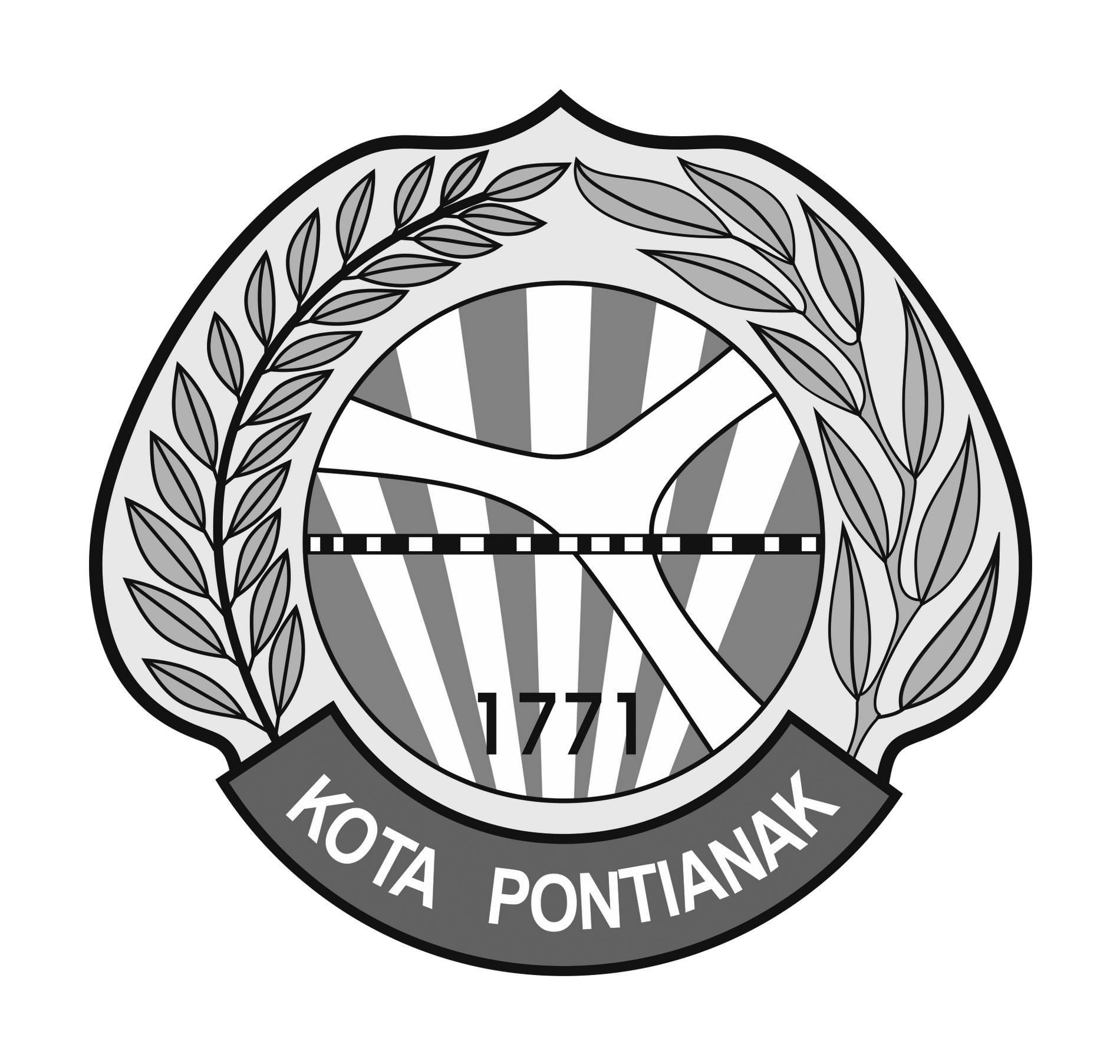 Logo Kota Pontianak (Provinsi Kalimantan Barat) Original Grayscale