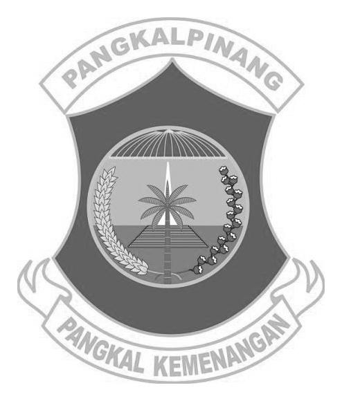 Logo Pangkalpinang (Kepulauan Bangka Belitung) Grayscale