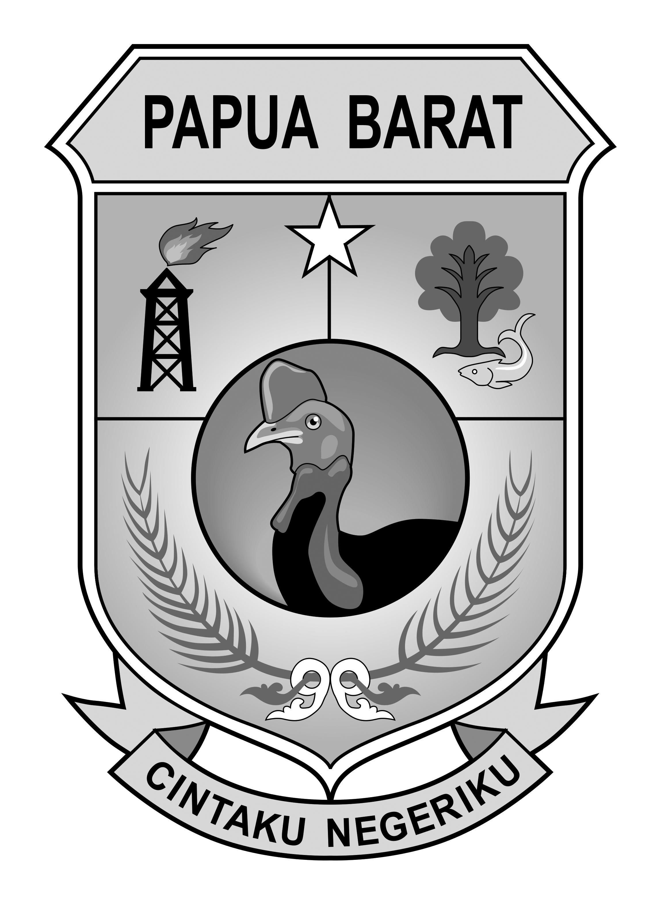 Logo Papua Barat (Papua Barat Indonesia) Original Grayscale
