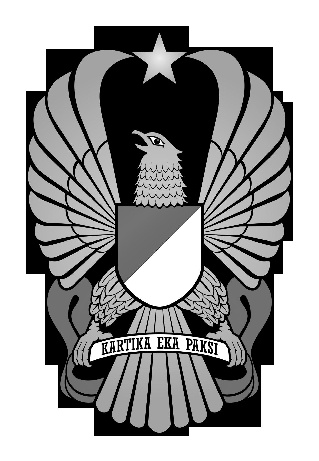 Logo TNI AD (Tentara Negara Indonesia Angkatan Darat) Hitam Putih