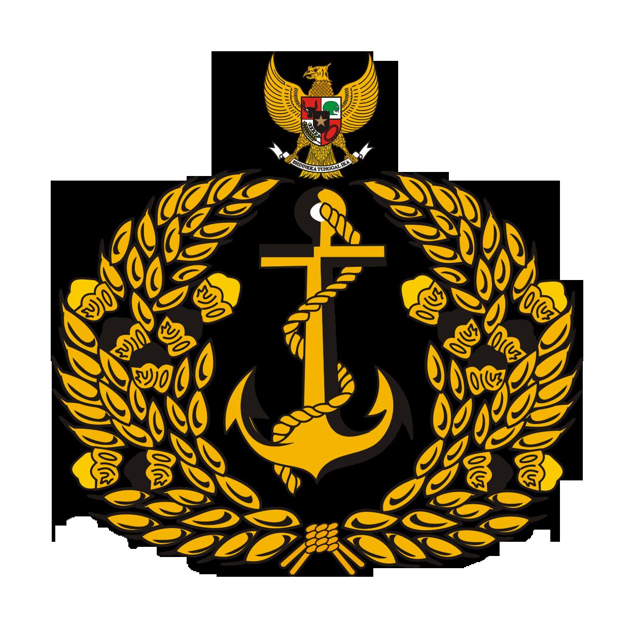 Logo TNI AL (Tentara Negara Indonesia Angkatan Laut) Tampa Semboyan
