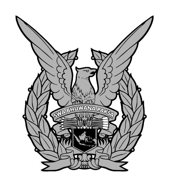 Logo TNI AU (Tentara Negara Indonesia Angkatan Udara) Grayscale