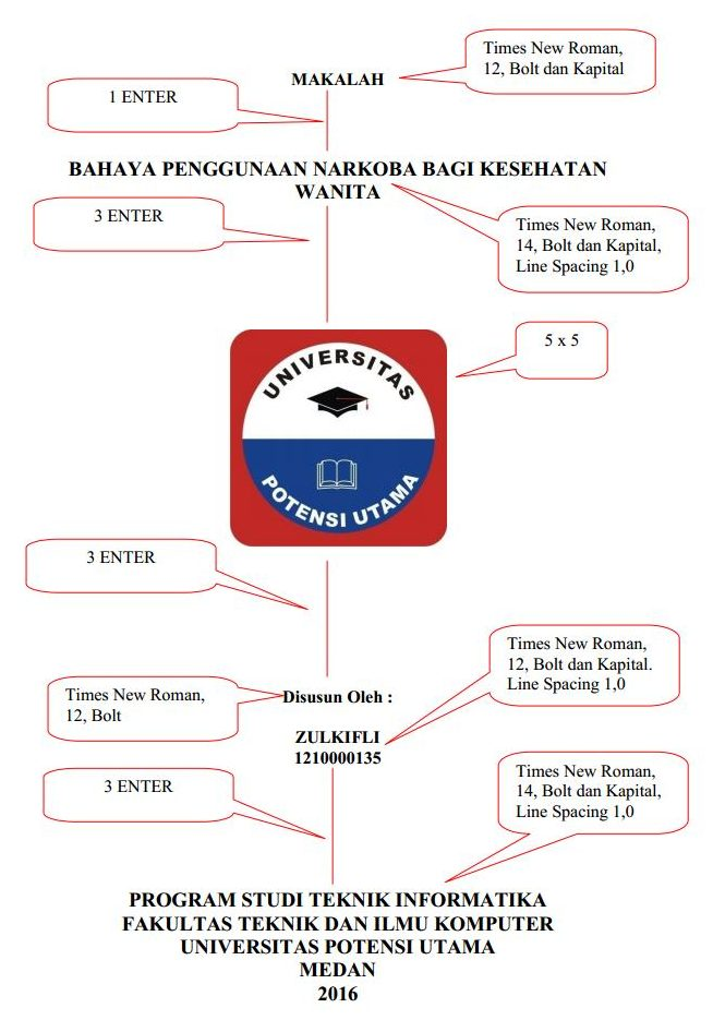 Format cover makalah