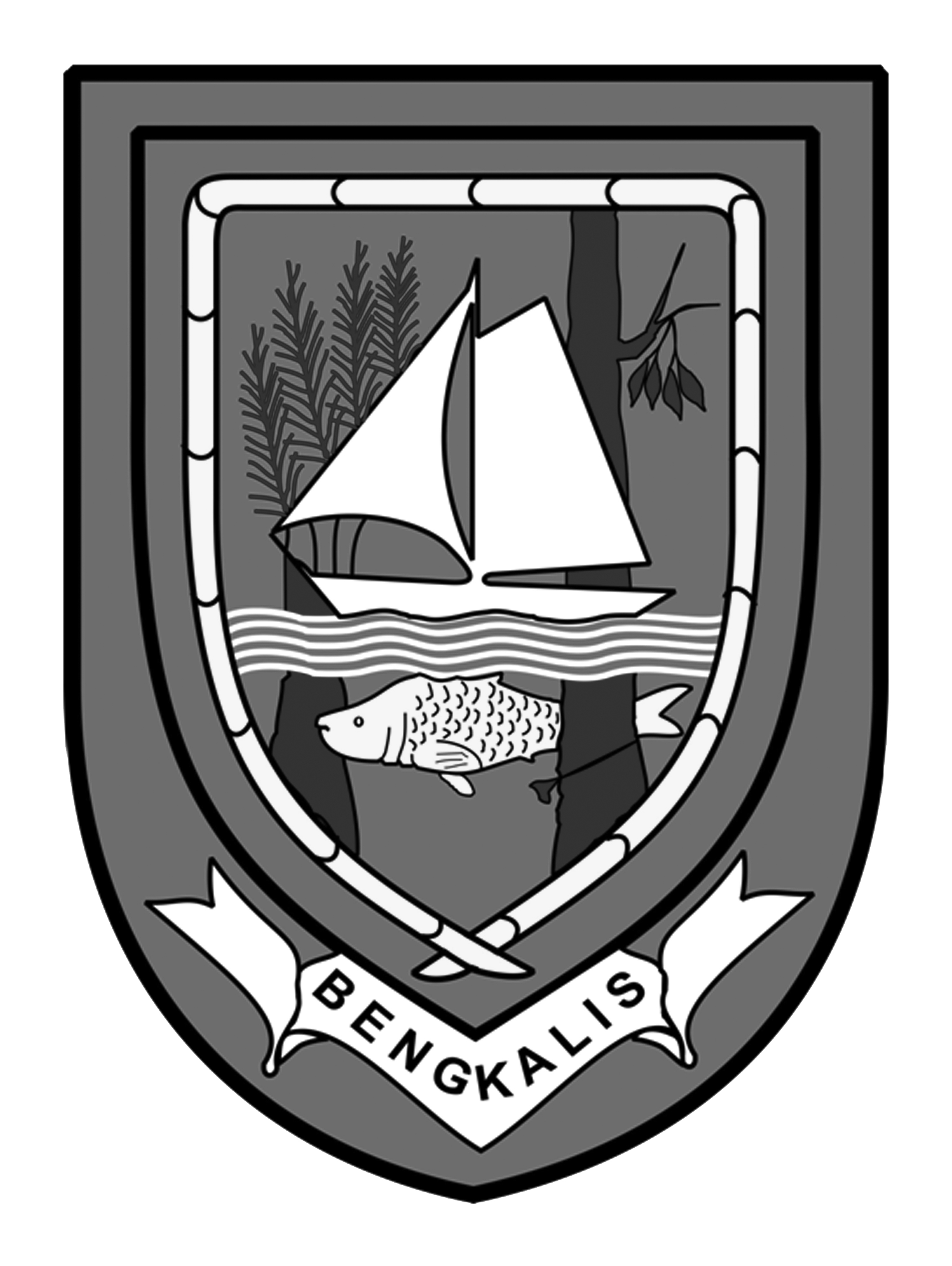 Logo Bengkalis (Kabupaten Bengkalis) Hitam Putih