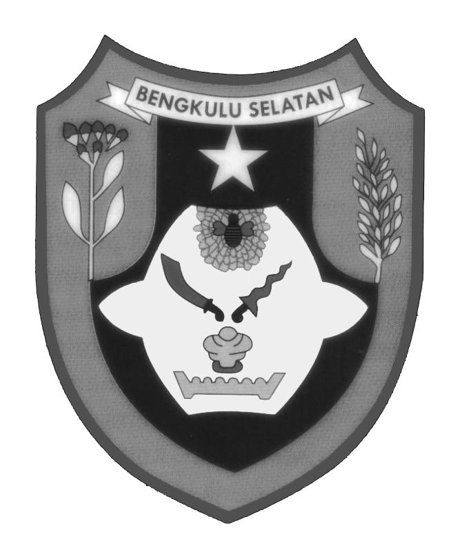 Logo Bengkulu Selatan (Kabupaten Bengkulu Selatan) Hitam Putih