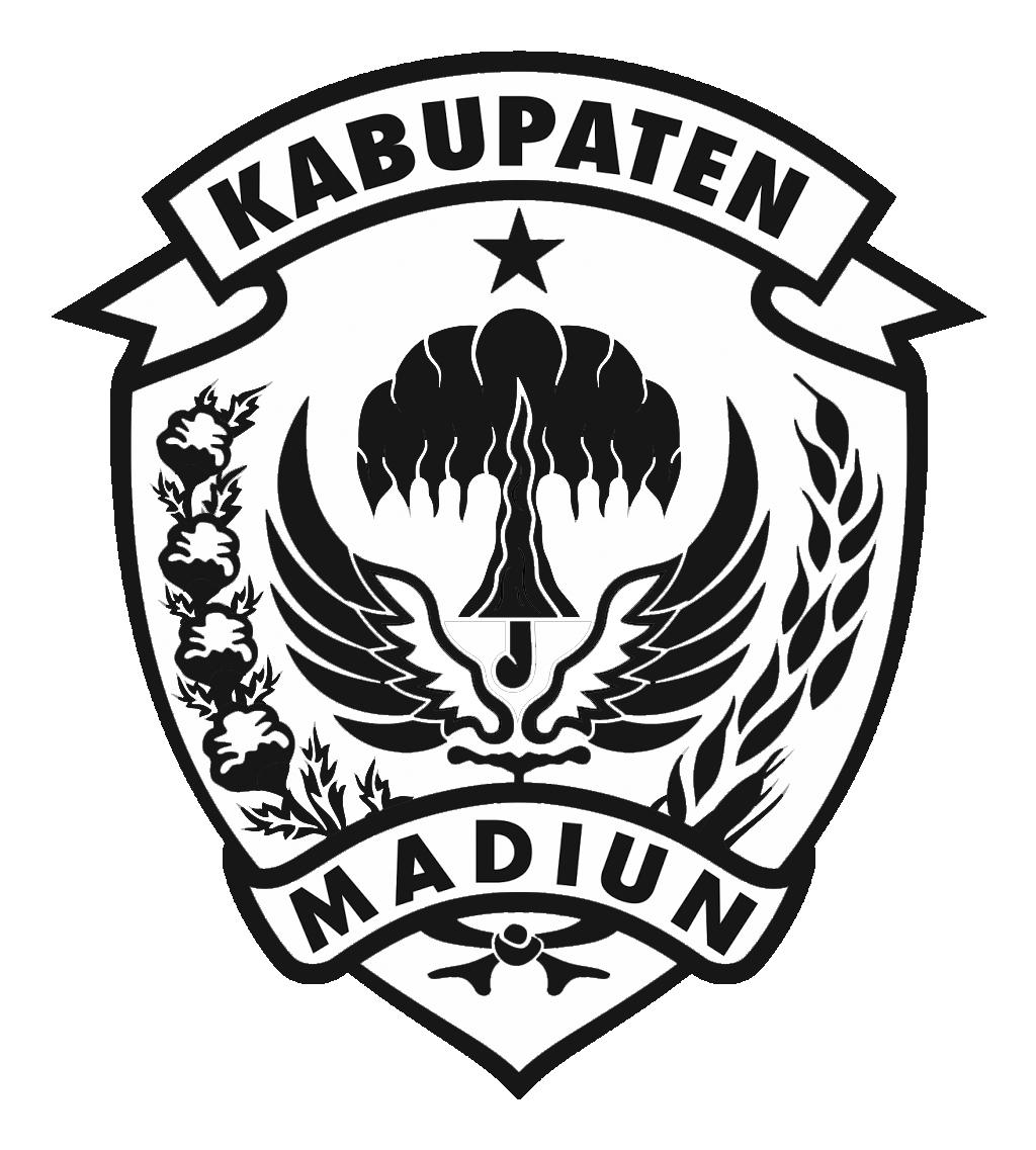 Logo Kabupaten MadiunHitam Putih