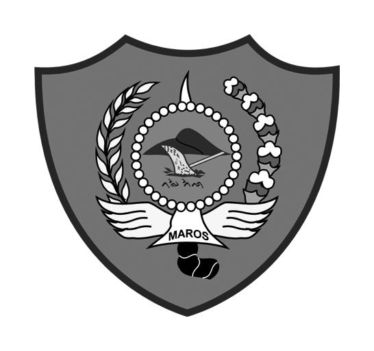 Logo Kabupaten MarosHitam Putih
