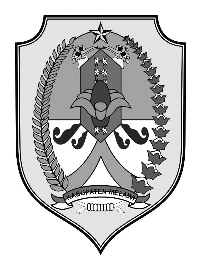 Logo Kabupaten MelawiHitam Putih