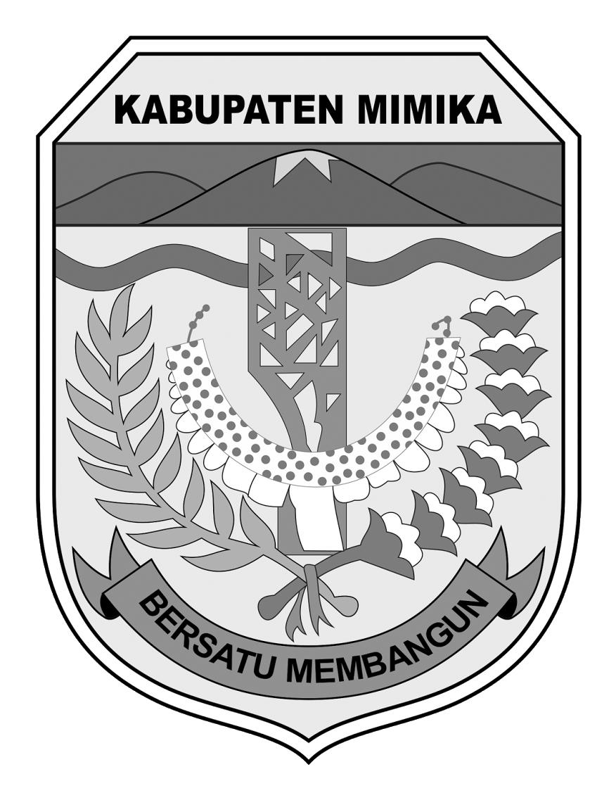 Logo Kabupaten MimikaHitam Putih