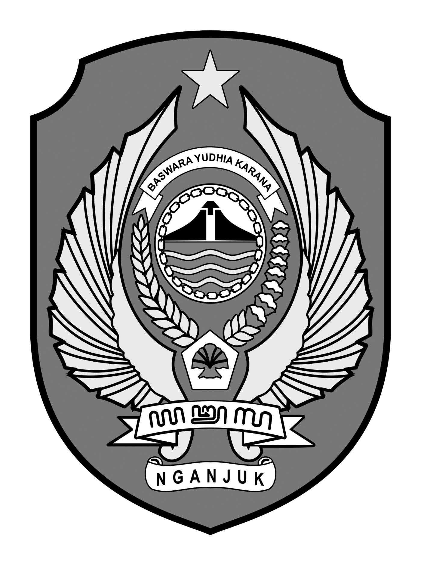 Logo Kabupaten NganjukHitam Putih