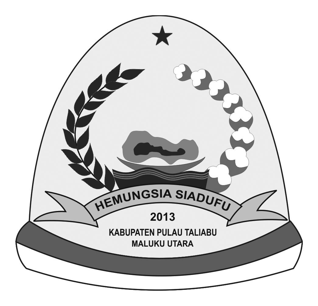 Logo Kabupaten Pulau TaliabuHitam Putih