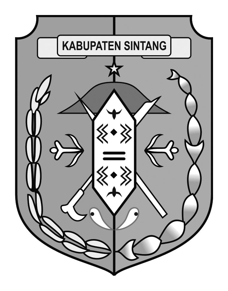 Logo Kabupaten SintangHitam Putih