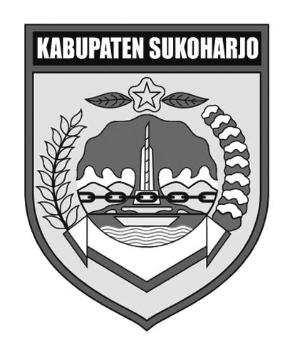 Logo Kabupaten SukoharjoHitam Putih