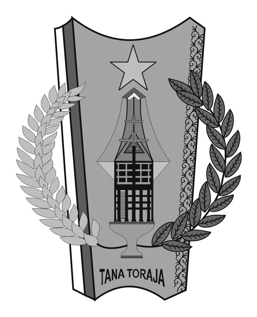 Logo Kabupaten Tana TorajaHitam Putih