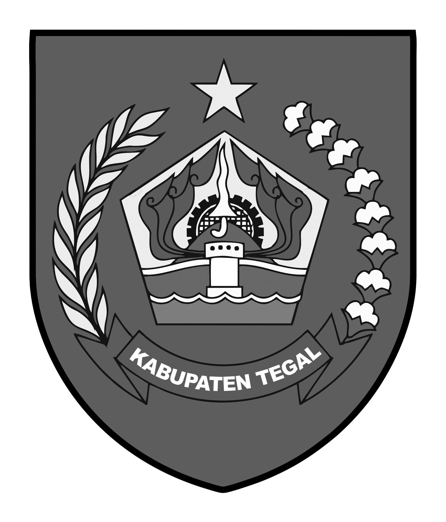 Logo Kabupaten TegalHitam Putih