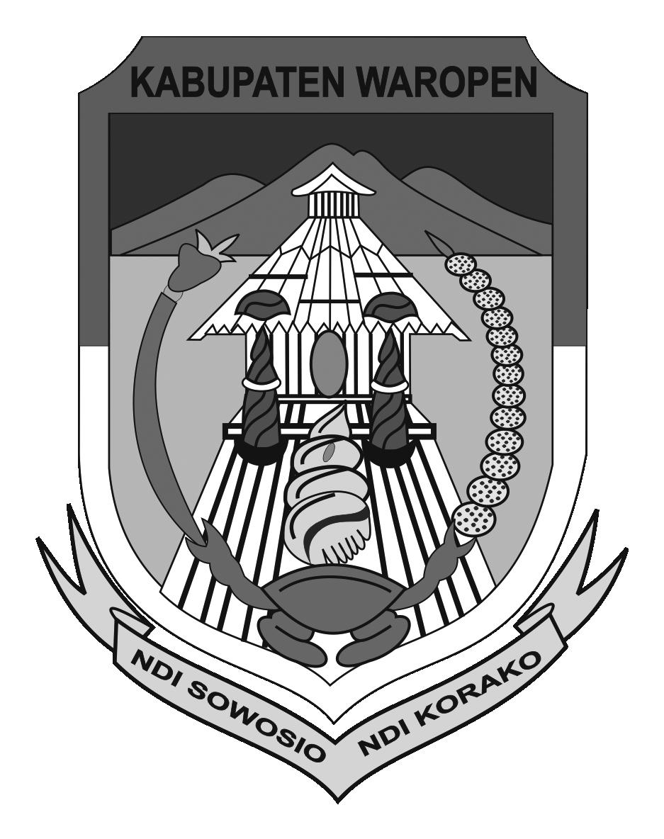Logo Kabupaten WaropenHitam Putih
