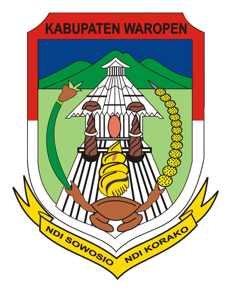 Logo Kabupaten WaropenWarna