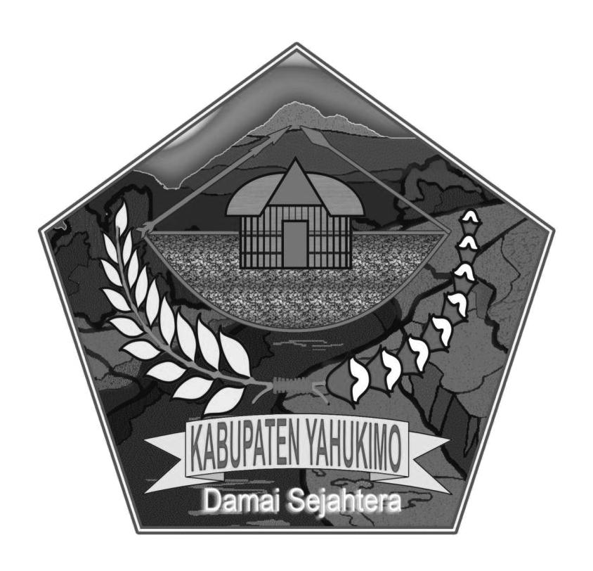Logo Kabupaten YahukimoHitam Putih
