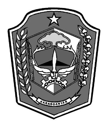 Logo Karanganyar (Kabupaten Karanganyar)Hitam Putih