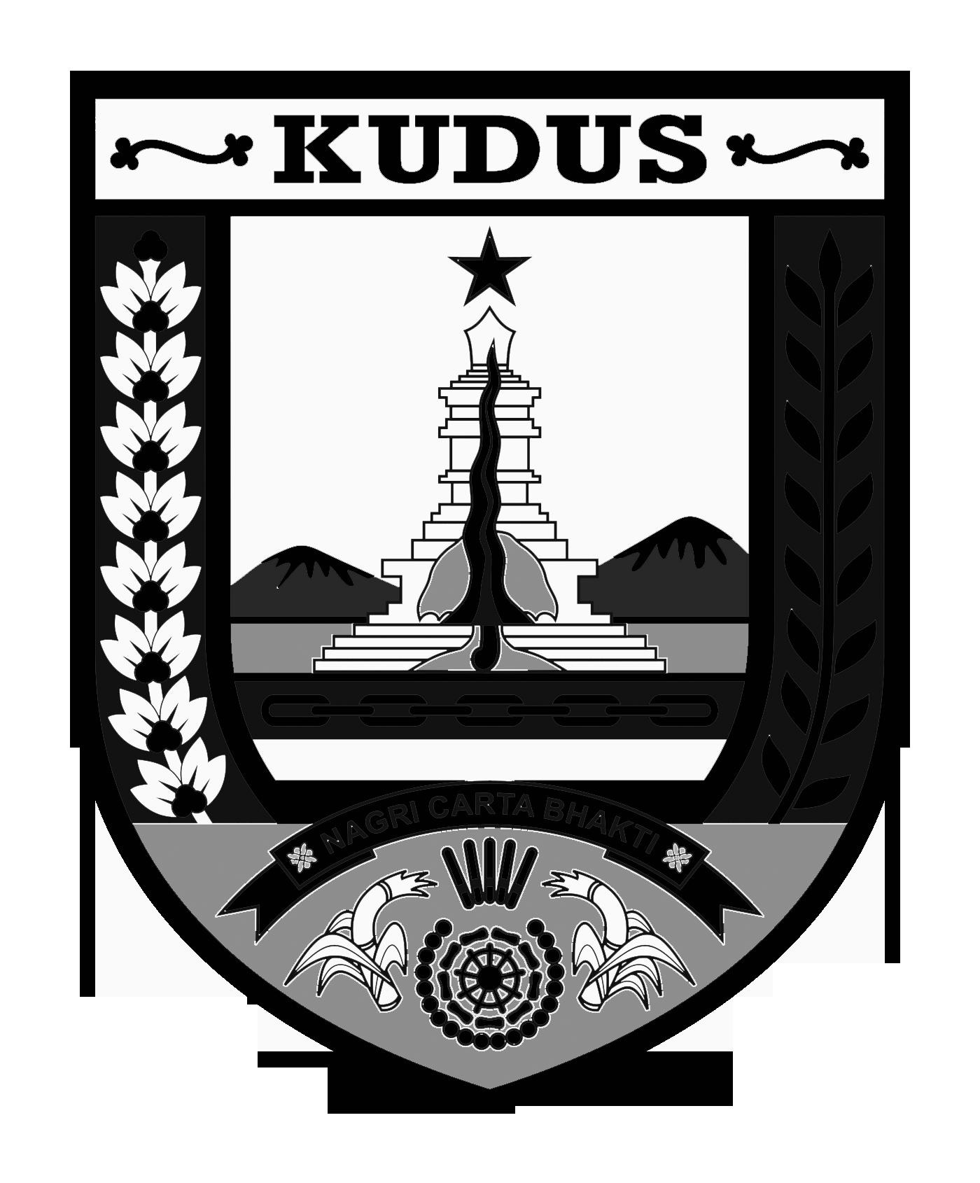 Logo Kudus (INDONESIA)Hitam Putih