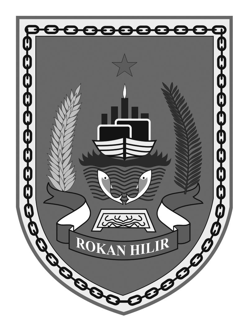 Logo Rokan Hilir (Kabupaten Rokan Hilir)Hitam Putih
