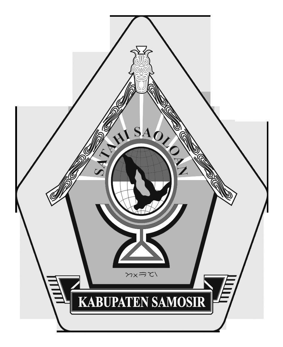 Logo Samosir (Kabupaten Samosir)Hitam Putih