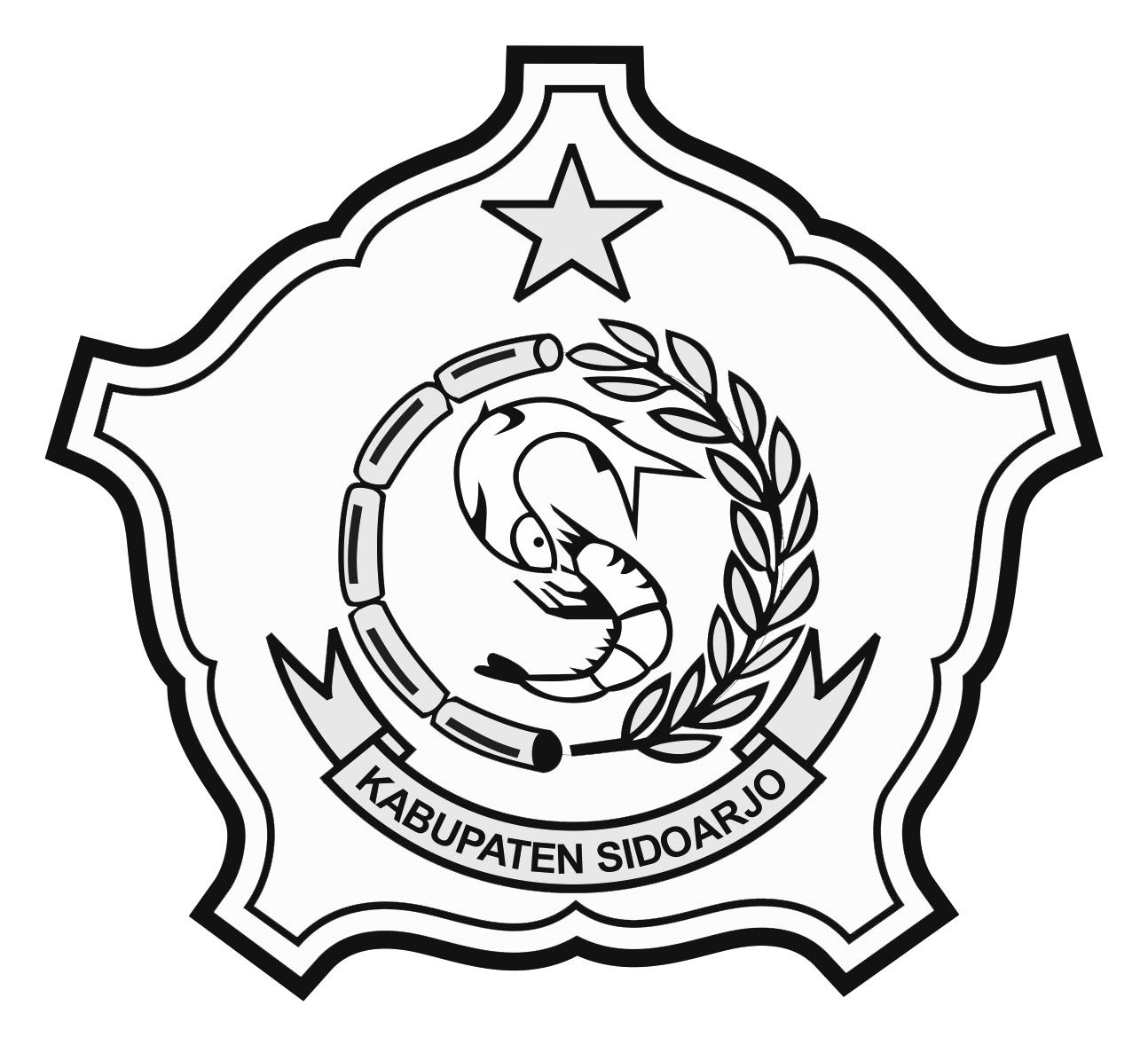 Logo Sidoarjo (Kabupaten Sidoarjo)Hitam Putih