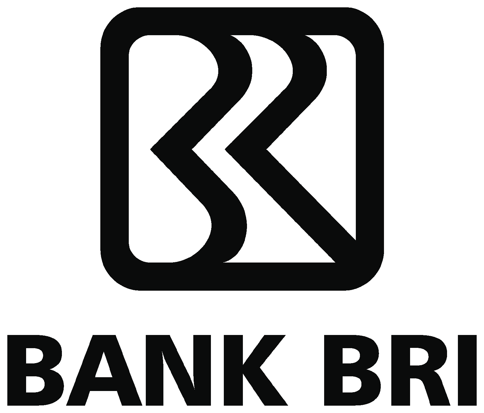 Logo BRI (Bank Rakyat Indonesia)Hitam Putih