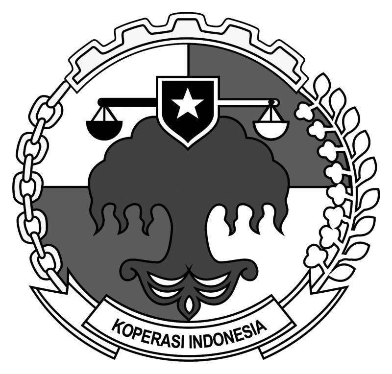 Logo Koperasi IndonesiaPNG Hitam Putih