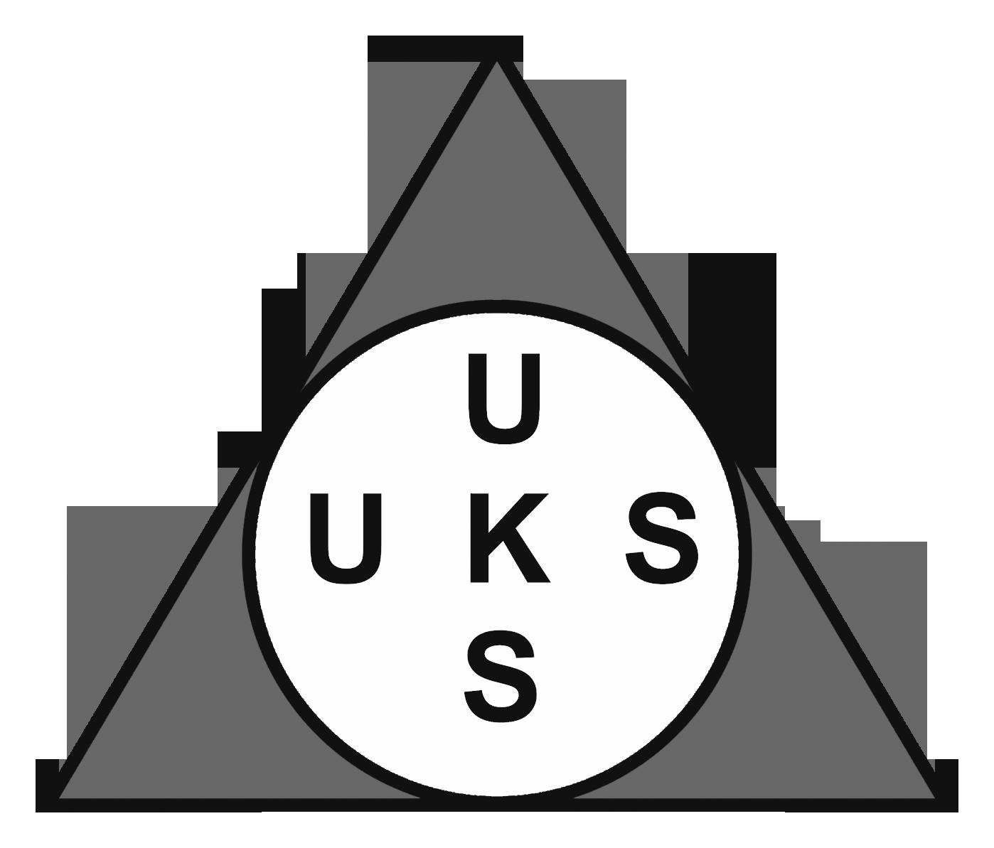 Logo UKS (Usaha Kesehatan Sekolah)Hitam Putih