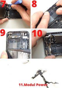 Modul Tombol Power iphone Rusak