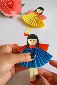 Origami Miniatur wanita cc.pinterest.com