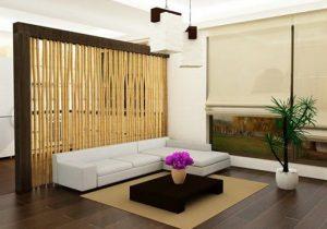 partisi material bambu