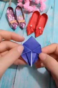 Origami Miniatur Sepatu Cc. Pinterest,com