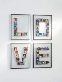 Bikin polaroid berbentuk huruf