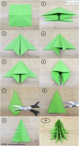 Origami pohon natal cc. Pinterest.com
