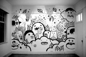 doodle art pada dinding cc.Pinterest,com
