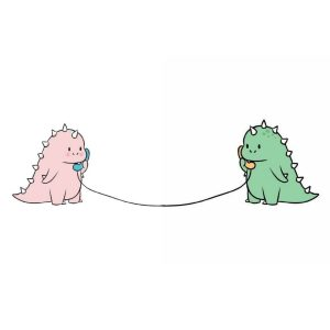 Wallpaper Dino Couple